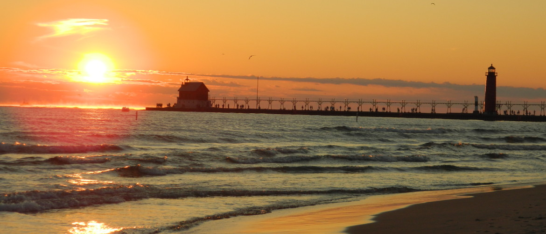 Lake Michigan Summer Sunset